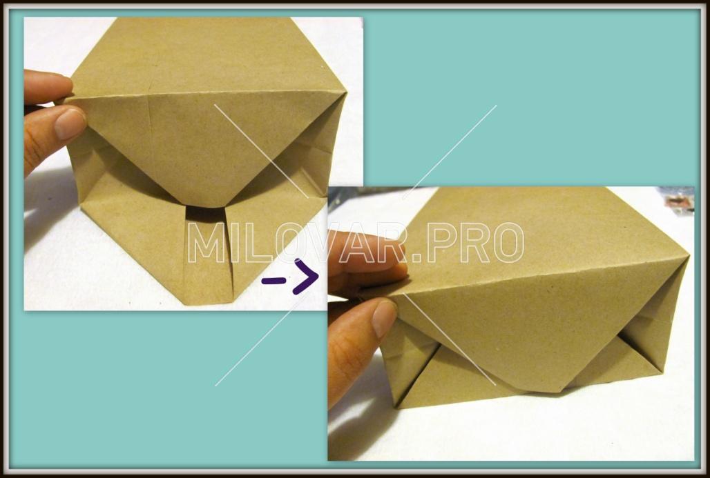 Как сделать копилку из бумаги своими руками без клея и ножниц 65